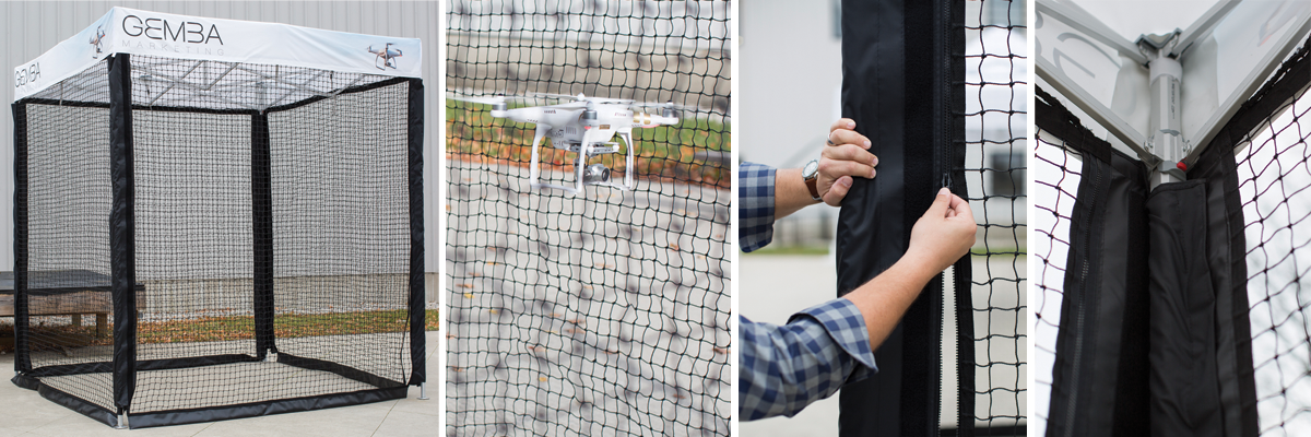 Pop Up Drone Cages Custom Portable Safe Gemba Marketing